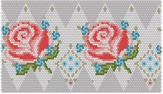 Bead crochet ball pattern in rose flower design.  Also available for download in .cbb and pdf format Bead Crochet Patterns, Peyote Patterns, Cross Stitch Patterns, Crochet Ball, Bead Crochet Rope, Seed Bead Flowers, Beaded Flowers, Cross Stitch Rose, Cross Stitch Flowers