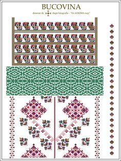 traditional Romanian blouse from MOLDOVA, Bacau county Folk Embroidery, Embroidery Stitches, Embroidery Patterns, Cross Stitch Patterns, Palestinian Embroidery, Simple Cross Stitch, Creative Inspiration, Cross Stitching, Beading Patterns