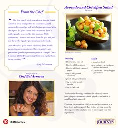 Avocado and Chickpea Salad Recipe from The Hundred Foot Journey