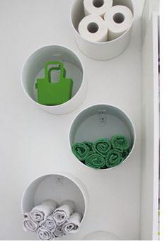 Canos de PVC como nichos