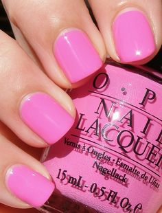 OPI ~ Shorts Story 2 coats, Paige Denim Brights 2009 love the color Ongles Roses Barbie, Barbie Pink Nails, Nails Polish, Opi Nails, Stiletto Nails, Pink Polish, Manicures, Colorful Nail Designs, Nail Art Designs