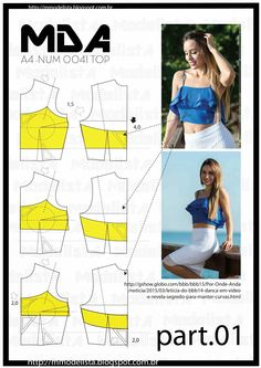 ModelistA: A4 NUM 0041 TOP Ruffled Crop Top Part 1