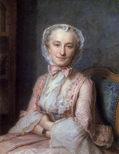 A portrait of Mademoiselle Sallé by Maurice Quentin de La Tour, circa 1741