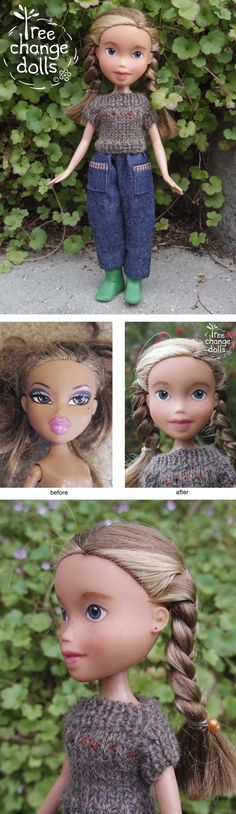 Tree Change Dolls® Doll #465 OOAK, repainted, restyled, second-hand doll, by artist Sonia Singh