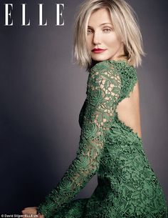 Fabulous at 40: Cameron Diaz shows off her trim figure in the new issue of ELLE UK magazine