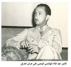 المرحوم الأمير عبد الإله { رحمه الله } الصورة عام 1945 من صور الاستاذ Ali Mouayad
