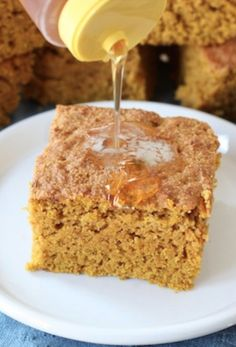 Pumpkin Cornbread on twopeasandtheirpo... A great side dish to any fall meal!