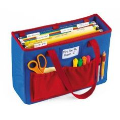 File Folder Tote for Teachers. Great tool to keep your lesson plans, student work, and stationery organized!