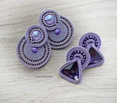 #soutache #jewelry #earrings #panka #black #etsyshop #etsyjewelry #cordjewelry