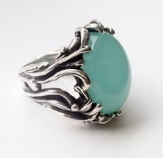 chrysoprase ring by Crystal Hartman, available at Studio Colfax   .studiocolfax.