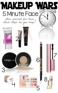 Makeup Wars: 5 Minute Face via @15 Minute Beauty