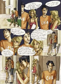 Percy Jackson and Annabeth Chase. The last night she sees Percy