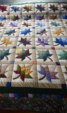 Maple Leaf Amish Quilt by QuiltsByAmishSpirit on Etsy