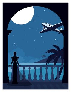 Art Deco Travel Poster #4 by Mojo Goods,
