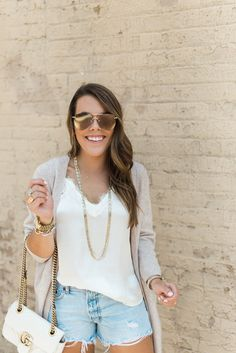 Cashmere Cardigan via Glitter & Gingham / The Best Sweater From the Nordstrom Sale / Summer to Fall Style