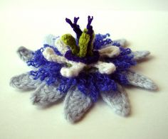 Crocheted Passion Flower by meekssandygirl, via Flickr