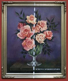 Banksy - Inside ((fine art and the art of divorce)) Click on pin and see for yourself.