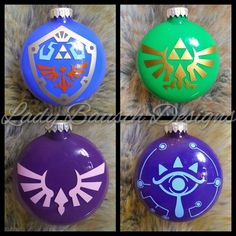 Legend of Zelda Inspired Ornaments by LadyBauschDesigns on Etsy https://www.etsy.com/listing/570348959/legend-of-zelda-inspired-ornaments