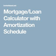 installment loan calculator amortization schedule