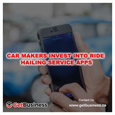 Car makers invest into ride hailing service apps