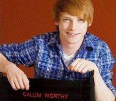 Calum Worthy ok I'm going through a ginger phase :)