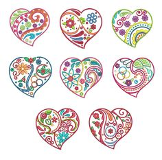 Whimsical doodle hearts machine embroidery designs by juju Embroidery Store, Machine Embroidery Applique, Hand Embroidery Stitches, Embroidery Files, Embroidery Patterns, Quilling Patterns, Quilling Designs, Zentangle Patterns, Paper Quilling Tutorial