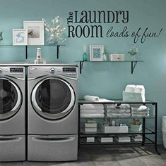 "The Laundry Room Loads Of Fun Quote Vinyl Wall Decal 40"" Wide by 14"" High Decor Designs Decals http://www.amazon.com/dp/B00SDURFY8/ref=cm_sw_r_pi_dp_tZglvb033S7JZ"