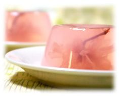 Sakura jelly ~ Homemade Kin-gyoku (a kind of Japanese traditional dessert)