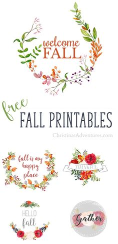 Download these free fall printables with gorgeous rich colors and florals - perfect for your fall home decor!