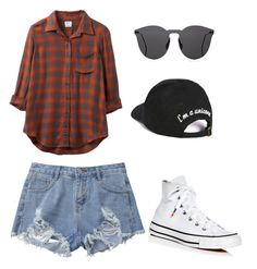 """""""summer looks.."""" by kmdudley on Polyvore featuring RVCA, Converse, Illesteva and Boohoo"""