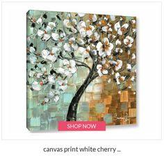 canvas print white cherry blossom tree home decor modern square wall art retro by susanna Mural Wall Art, Canvas Wall Art, Wall Art Prints, White Cherry Blossom, Square Art, Fall Mantel Decorations, Tree Print, Acrylic Art, Online Art Gallery