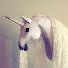 Unicorn hobbyhorse by Eponi: www. Unicorn Hobby Horse, Stick Horses, Horse Crafts, Cow, Artisan, Photo And Video, Baking, Animals, Instagram