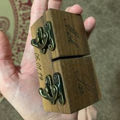 Sarah Machalak added a photo of their purchase Wooden Ring Box, Wooden Rings, The One, Proposal Ring Box, Believe, Ring Bearer Box, Wedding Ring Box, Picture On Wood, Custom Boxes