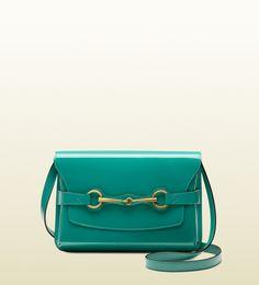 Gucci bright bit patent leather shoulder bag