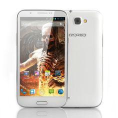 Bones - 5.7 Inch Quad Core Android 4.2 Phone - White (1.2GHz CPU, 1GB RAM, 8GB ROM, 1280x720)
