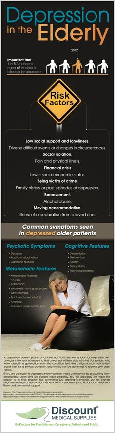 Depression in the Elderly #Infographic #Depression (Happy to pin for other site but you should also check out my page: www.greenwoodcoun... )