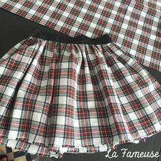 Mini-jupe tissus écossais