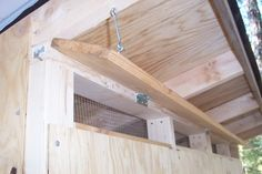 closeable vents on chicken coop