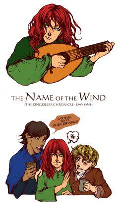 The Name Of The Wind sketch by BotanicaXu.deviantart.com (Kingkiller Chronicle fan? LIKE www.facebook.com/eoliantavern and visit www.eoliantavern.com)