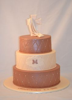 christening cake matching the colour theme