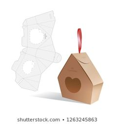 Candy model box of house. Retail Box with Die-cut Layout. Vector Illustration of Box. Diy Gift Box, Diy Box, Cardboard Box Crafts, Paper Crafts, Model Box, Cajas Silhouette Cameo, Candy Models, Paper Box Template, Retail Box