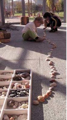 How many stones can you place in a line....how long can you make your stone trail?
