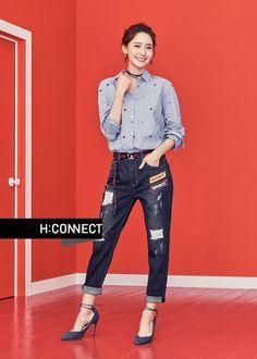 YoonA Shows Her Impeccable Style with 'H:Connect' Snsd Fashion, Korean Fashion, Yuri, Girl's Generation, Yoona Snsd, Girl Day, Korean Actresses, Asian Style, Korean Style