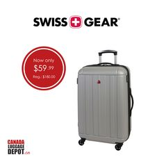 This offer will not last! Take advantage of our Swiss Gear Fribourg II suitcase's expansion feature that allows for extra packing capacity.