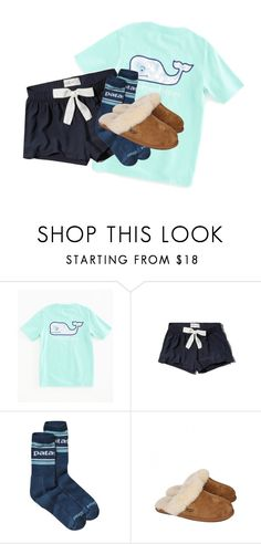 """sleepwear"" by juliabrueggemeyer ❤ liked on Polyvore featuring Vineyard Vines, Abercrombie & Fitch, Patagonia and UGG Australia"