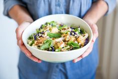 Roasted Cauliflower and Snap Pea Salad — The Gantzery