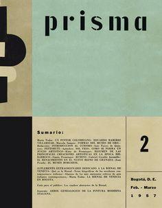 """Prisma"", (1957), Colombian Cover Magazine of Art."