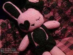 Gothic Bunny Plush by ~PiggyLover8188 on deviantART