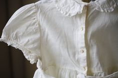 Kate Greenaway White Linen Frock Dress by TheFarmhousePorch etsy