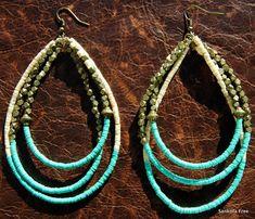 Monifa Tribal Hoop Earrings  African Jewelry  by SANKOFAFREE, $35.00